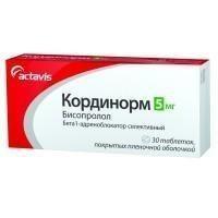 Кординорм таблетки 5 мг, 30 шт.
