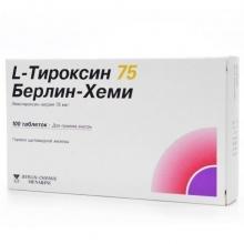 L-Тироксин 75 Берлин Хеми таблетки 75 мкг, 100 шт.