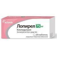 Лопирел таблетки 75 мг, 28 шт.