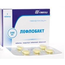Лефлобакт таблетки 500 мг, 5 шт.